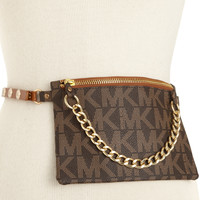 MICHAEL Michael Kors MK Logo Leather Belt Bag Belt