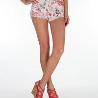 Almost Famous Floral Stretch Short