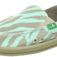 Sanuk Women's I'm Game Slip-On,Zebra/Aqua,7 M US