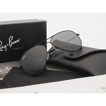 Aviator Sunglass Black Polarized RB 3025 002/58