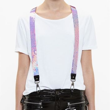 Sequinned Suspenders - FILLES A PAPA