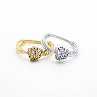 Knot stone ring