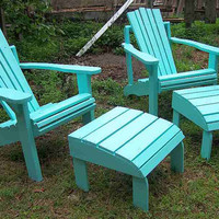 Adirondack Chair and Ottoman Made From Reclaimed by Drucycle