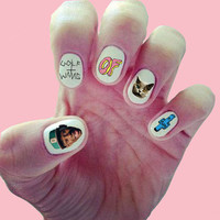 Odd Future Tyler the Creator Nail Decals/ Nail Wraps/ Nail Art/ OFWGKTA/ Golf Wang/ Tron Cat