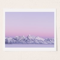 Michael O'Neal Dawn In Tetons Art Print | Urban Outfitters