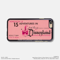Disneyland ticket iPhone Case Black Hard case 040