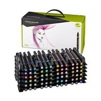 Prismacolor Premier Double-Ended Art Markers, Fine and Brush Tip, 72 Pack