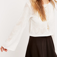 Pins & Needles Kimono Sleeve Lace Top - Urban Outfitters