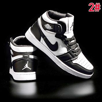 Nike AIR JORDAN 1 Fashionable Women Men High Top Sport Running Shoes Sneakers 2#