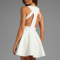 keepsake Lady Doll Tank Dress with Cut Outs in Ivory Jacquard from REVOLVEclothing.com