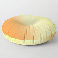 Floor Pillows - Orange to Yellow Ombre - Round or Square Floor Cushion - Decorative Pillow - Made to Order