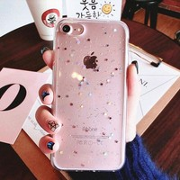 For iphone 8 plus iphone8 Case Bling Star Silicon Soft Clear Transparent Black Cover Glitter coque Case for iphone 8 plus cases