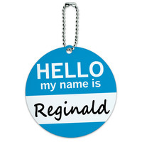 Reginald Hello My Name Is Round ID Card Luggage Tag