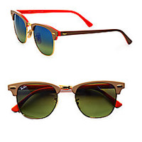 Ray-Ban - Iconic Clubmaster Sunglasses - Saks Fifth Avenue Mobile