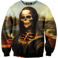 Mona Lisa Skeleton Crewneck