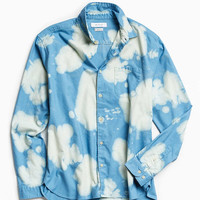 UO Bleached Fuzzy Flannel Button-Down Shirt - Urban Outfitters