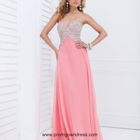 Gorgeous Empire Sweetheart Watermelon Red Prom Dress with Beading Style TOWB043,2014 Prom Dresses