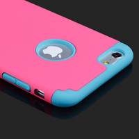 Shockproof Hard Phone Case For iPhone 6 6S Capa Para TPU With Hole Hybrid Rubber Rugged Phone Back Cover For iphone 6 6S PLUS