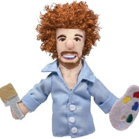 Bob Ross Magnetic Personality Finger Puppet