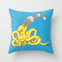 Head Games Throw Pillow by Allise Noble