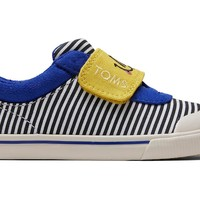 TOMS - Tiny Toms Doheny Smiley Stripe Sneakers