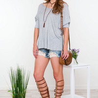 Gray Loose T-Shirt