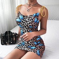 New fashion trend for women is selling sexy leopard-print butterfly lace dresses