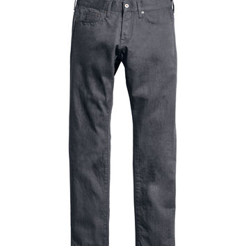 H&M - Slim Low Jeans - Gray - Men