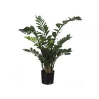CC Home Furnishings Pack of 2 Potted Artificial Zamioculcas African Style Silk Plants 3.5' Artificial Plants