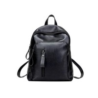 Student Backpack Children Leather Backpack Women Black Small Zipper Backpack  Korean School Bags Backpacks Mochilas Mujer 2018 Bags#24 AT_49_3