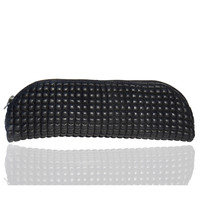 Women Quilted and Puffed Leather Clutch Bag