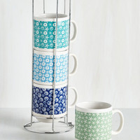 Nautical Shell We Have Coffee? Mug Set by ModCloth