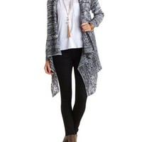 Marled Cascade Cardigan by Charlotte Russe