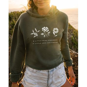 A Little More Kindness Athletic Crop Hoodie