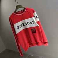 Givenchy 18 autumn outfit new embroidery logo stitching sweater 005