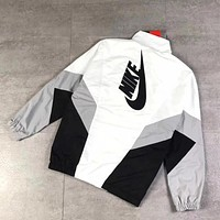 Nike Fashion Embroidery Sport Cardigan Jacket Coat Sweatshirt
