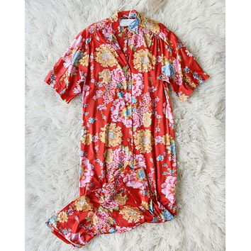 Vintage Chrysanthemum Dress Set