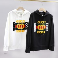 GUCCI fashionable and popular matching hoodie with embroidered logo