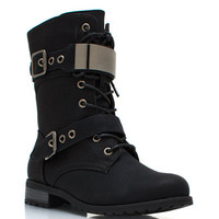 Do-Not-Metal-With-Me-Combat-Boots BLACK - GoJane.com