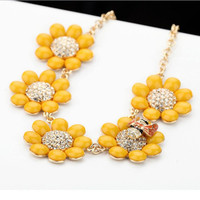 Sunflower and Bee Cute Necklace