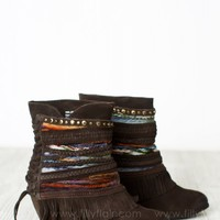 Trail to My Heart Ankle Boots in Chocolate