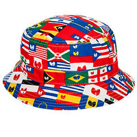 The Wunited Nations Bucket Hat in Red