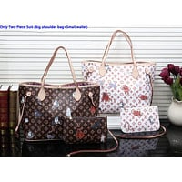 LV hot seller of fashionable lady's animal print two-piece shopping bag