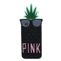 Zhipingshop Hot Sale & Fruit Design Victoria Secret Lady Pineapple Skin Silicone Case Cover for Iphone 5 5g (black)