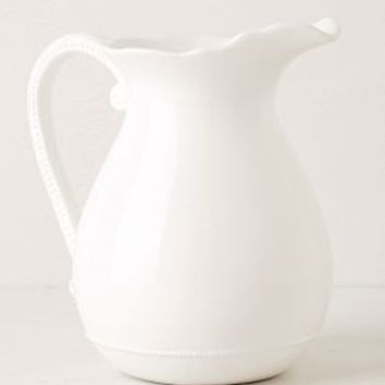 Lotus Pitcher by Anthropologie in White Size: Pitcher Serveware