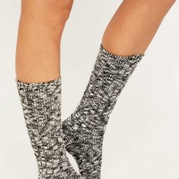 Basic Black Marled Boot Socks - Urban Outfitters