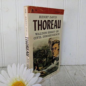 Walden - Essay on Civil Disobedience Paperback Book by Henry David Thoreau Complete and Unabridged ©1965 Classic Series Book