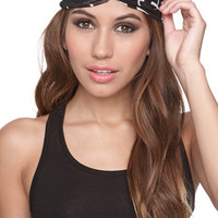 With Love From CA Black And White Headscarf at PacSun.com