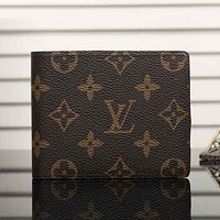 Best Gifts Louis Vuitton LV Men Leather Purse Wallet
