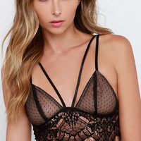 All the Night Moves Black Lace Bralette